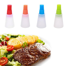 bottle coats Promo Codes - Creative Silicone Barbecue Oil Bottle Brush Heat Resisting Silicone BBQ Cleaning Basting Oil Brush useful and convenient Free shipping