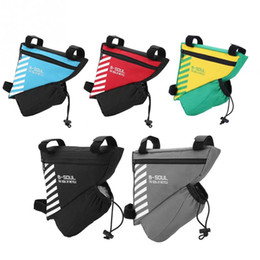 седло Скидка Bike Bag Front Kettle Pouch Bike Frame Front Tube Mobile Phone Triangle Bags Bicycle Tube Saddle Pouch Bicycle Accessories
