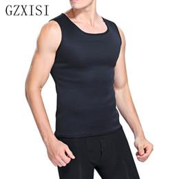 Wholesale tight waist shapewear - GZXISI Hot Slimming Male Vest Neoprene Body Shaper Men Black Vests Waist Belt Waist Trainer Tights Corsets Hot Shapers Shapewear
