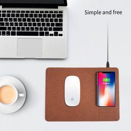 tappetino per il mouse del telefono cellulare senza fili materail in pelle di lusso per samsung s8 plus s7 s6 iphone x 8 plus cheap apple mouse pads da pastiglie per mouse apple fornitori