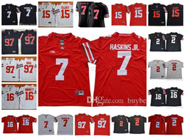 NCAA Ohio State Buckeyes  2 JK Dobbins  7 Dwayne Haskins Jr.  97 Nick Bosa   15 Ezekiel Elliott College Football Jerseys White Red Black 8c3696fa2
