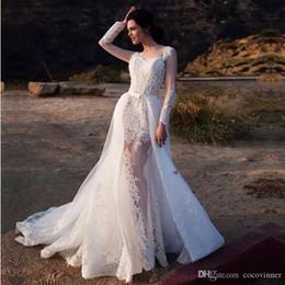 ed41b09e7 moda nupcial Rebajas Vogue vestidos de novia de la sirena de manga larga  con faldas apliques