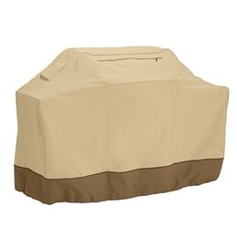 Wholesale bbq accessories - Beige BBQ Grill Cover Oxford Cloth Anti-waterbeads Barbeque Cover Microwave Oven Arbecue Grill accessories For Outdoor DDA400