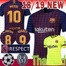 2018 novo Barcelona MESSI 10 Camisola De Futebol MULHERES homem Crianças  Kits 2019 A.INIESTA 8 Suárez 9 DEMBELE 11 COUTINHO 7 camisa de futebol 028cb0bd54a5c