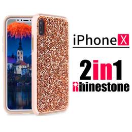 ecbd700da828e0 Premium bling 2 in 1 Luxury diamond rhinestone glitter back cover phone case  For iPhone 8 7 5 6 6s plus Samsung s8 note 8 cases