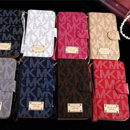 Poche de couverture iphone en Ligne-Portefeuille de luxe Flip PU Housse en cuir fente pour carte Pocket Cover avec étui porte-lanière pour iphone X XS max 8 7 6 6 s plus Samsung s7 s8 s9 plus