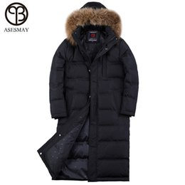 3598d4162d3c Asesmay Winter Jacket Men Brand Clothing High Quality 90% White Duck Down  Coat X-long Hoodies Thick Mens Goose Feather Parka