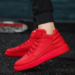 botas de invierno para hombres Rebajas UBFEN Red Cómodo Casual Mans zapatos Moda antideslizante Otoño e Invierno Popular Estilo corto Hommes Sapatos Mens Snow Boots