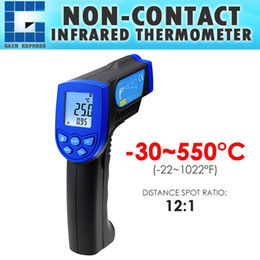 Wholesale ir c - THE-217 Non-Contact Lasergrip Infrared 12:1 DS Thermometer Laser Temperature -30 ~ 550°C (-22 to 1022°F) Digital IR Instrument Meter