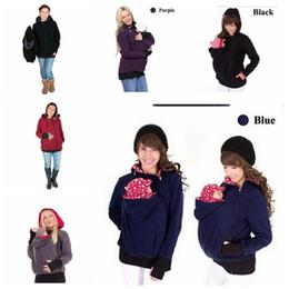 2019 chaqueta de invierno mujeres embarazadas Invierno otoño mujer portadora de bebé chaqueta con capucha de maternidad prendas de abrigo para embarazadas engrosadas embarazo bebé vistiendo abrigo chaqueta de invierno mujeres embarazadas baratos