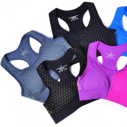 Conforto sutiã sem costura on-line-Seamless Racerback Esporte Sutiã de Fitness Mulheres Ginásio Yoga Correndo Colete De Boxe Ativo Alto Controle de Suporte Sem Fio Comfort Bra Top
