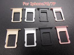bandeja de tarjeta sim de iphone 5s Rebajas Ranura de aluminio del sostenedor de la bandeja de tarjeta del Nano SIM para el iphone 5 5S 6 6P 6s más 7 8 más