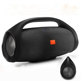 Wholesale Portable Boombox Bluetooth - Boombox Bluetooth high quality Wireless Speaker Stere 3D HIFI Subwoofer Handsfree Outdoor Portable Stereo Subwoofers with package Free DHL