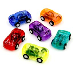 Wholesale Racer Cars - 10Pcs Random Color Pull Back Racer Mini Car Kids Birthday Party Toys Favor Supplies Giveaways Moveable Racer Child Toy