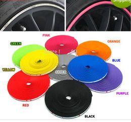 honda fit carbono Desconto Atacado-8M / Lote Novo Car Styling Auto Acessórios Car Wheel Rim Roda Anel Tyre WheelProtector Moda e Beleza Roda Rims Protector