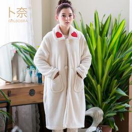 3e99c5e81f good quality winter Bathrobe Women Pajamas Bath Robe warm Sleepwear Womens  Robes Flannel sweet and cute Nightgowns Homewear