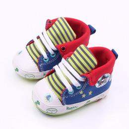 Wholesale Cartoon Sneakers - DreamShining Cartoon Printed Baby Shoes Casual Anti-Slip Toddler Walk Sneaker Spring Lace Baby Boy Shoes Newborn First Walkers