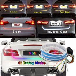 2019 tira de señal Colores Tipo de flujo LED Luz trasera de la puerta trasera del coche Tira de freno Lámpara de señal de giro tira de señal baratos