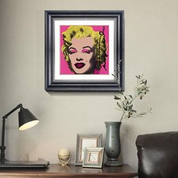 Wholesale Marilyn Monroe Art Posters - Crystal beads Diamond painting Figure Marilyn Monroe Home Decor Hang a picture gift Arts Crafts poster