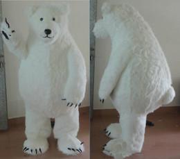 mascote, traje, polar, urso Desconto 2018 Desconto venda de fábrica grande gordura peludo urso polar mascote trajes para adultos para venda