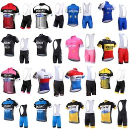 Wholesale Gel Bibs - 2018 QUICK STEP team Cycling Short Sleeve jersey summer Quick Dry high quality Mountain Bike Ropa Ciclismo Gel Pad bib shorts set 33012