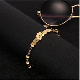 Wholesale Stainless Steel Bracelet Wholesale - 2018 European and American stainless steel jewelry wholesale fashion generous ladies gold stainless steel dolphin bracelet custom