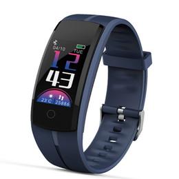 смотреть спортивный пульс Скидка 2018 новые смарт-браслет водонепроницаемый Мужчины смотреть монитор сердечного ритма Pulse метр фитнес трекер часы спортивные часы женщины