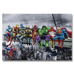 stampe d'arte meravigliose Sconti A348 Superheros Marvel DC Comics SKYSCRAPER Top A4 Art Silk Poster Luce Su Tela Pittura Stampa Home Decor Parete Della Stanza Immagine