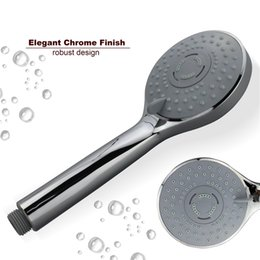 Wholesale Auto Thermostats - Round 3 Way Handheld Shower Head water Saving High Pressure Chrome Plating hsh0015a