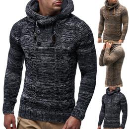f51649cda8a 2018 New Autumn Warm Button Sweaters Man Casual Knitwear Winter Men Kakhi  Sweatwer XXL