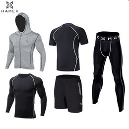 white kids sports suit Promo Codes - Kids compression running sets suits outdoor sports gym basketball soccer football fitness shorts shirts leggings pants jackets