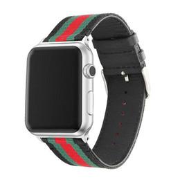Нейлоновые кожаные ремешки для часов для Apple Watch Band 42 мм 38 мм iwatch 1 2 3 полосы Кожаный ремешок Спортивный браслет Новые модные полосы 50 шт. DHL от