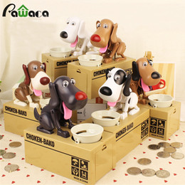 automatic coin Promo Codes - Cute Coin Plastic Storage Containers Box Tanks Money Box Dog Piggy Automatic Stole Coin Piggy Bank Moneybox Boxes For Children