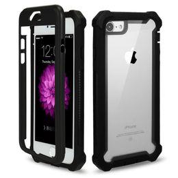 Wholesale dustproof phones - High Quality Waterproof Dustproof Anti-Shock Phone Case For Iphone X 8 7 Plus Armour Phone Back Cover