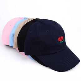 5c5a2148 Fashion Unisex Dad Hat Flower Rose Embroidered Curved Brim Baseball Cap  Visor