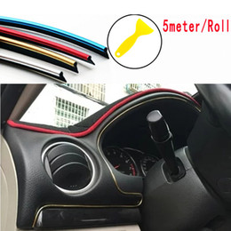 Wholesale Doors Dodge - 5Meter 1Roll Car Flexible Interior Moulding Decorative Strip Trim Line Car Styling Sticker Accessories