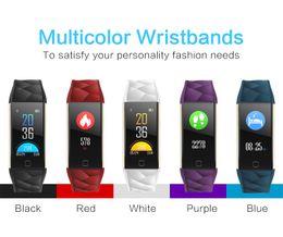 Wholesale Oxygen White - SmartBand T20 Color heart rate blood pressure Blood oxygen smart wrist Fitness wristband Bracelet Sports Tracker Pedometer