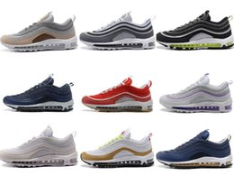 Wholesale Shoes Mans Air 87 - NEW 93 87 90 97 98 95 2018 Men Women White Black For Sale air 97S OG shoes outdoor sneakers 36-46