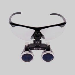 Wholesale Loupe Glasses Dental - Dental Hygienists Surgical Binocular Loupe Glasses Lens Magnifier 3.5X420 Dentist Black
