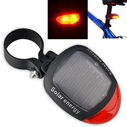 Wholesale Flashing Warning Light Solar - Bike Light Solar Powered LED Rear Flashing Tail Light for Bicycle Cycling Lamp Safety Warning Flashing Light Accessories