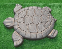 Wholesale abs moulding - Turtle Stepping Stone Mold Concrete Cement Mould Abs Tortoise For Garden Path Walking Path Maker Mold Garden Brick Diy Decor