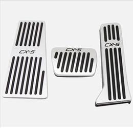 2019 couvre-pieds Plaquettes de pédale de frein de voiture en acier inoxydable de gaz de couverture avec la pédale de repos pour CX-5 2015-2018 livraison rapide gratuite promotion couvre-pieds