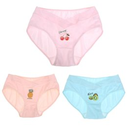 648a6b6712f2 3 Unids / lote Mujeres Embarazadas Traceless en forma de U de Algodón  Estiramiento de cintura baja Escritos Briefs Para Mujeres Embarazadas Más  Tamaño ...