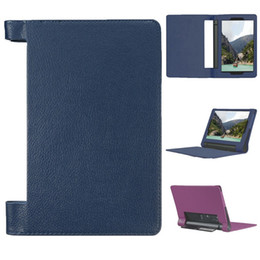 """Wholesale green tablet case - For Lenovo Yoga Tab 3 8"""" 850F 850M 850L Tablet PC Case Stand Flip Folio PU leather Cover"""