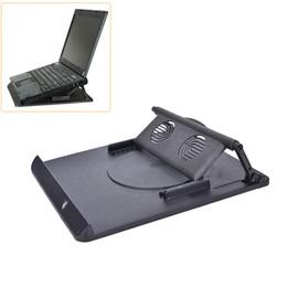 Portátil fresco stand online-JETTING Laptop Holder Cooling 360 Degree Rotación Stand Soporte Notebook Mesa escritorio giratoria