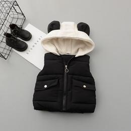 Viejo chaleco de bebé online-Casaco Inverno Infantil Menino Boy Traje de Qiu Dong Ma3 Jia3 0 a 3 años de edad Niña Más Han Edición Cartoon Chaleco Cremallera