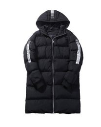 Wholesale mens slim fit down coat - Clothing Men Long Black Down Jackets Thicken Warm Slim Fit Coats Hooded Fashion Mens Jacket Winter Outerwear Clothes