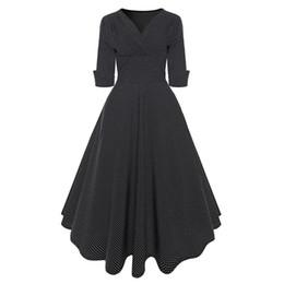 Sisjuly Vintage Polka Dot Dress Femmes Automne Soirée Fête Profonde Col En V Corset Taille Haute Robe De Bal Élégant Midi Robes De Travail ? partir de fabricateur