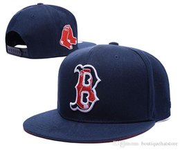 Wholesale Red Sox Hat Adjustable - New Men's Red Sox Snapback Hats in navy blue color Embroidered B Letter Team Logo Brand Hip Hop Sports Baseball Adjustable Caps