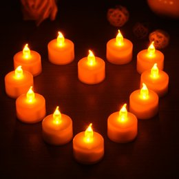 Wholesale led battery flicker candles - CRESTECH bright white tea lights Battery operated led crystal tea lights Flicker Flameless Wedding Birthday Party Christmas Decoration